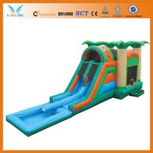4 in 1 Tropical Combo Wet - 2 Lane Water Slide Combo