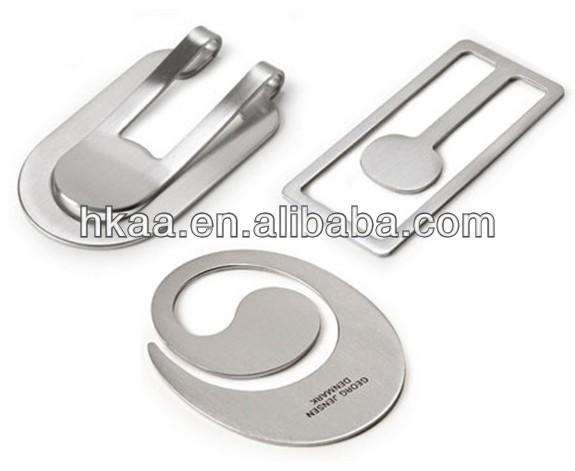 Custom New Folding good design Engraved logo laser stainless steel Metal Wallet Money Clip Inside,pewer metal money clips