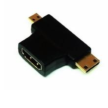 3-in-1 1080p HDMI Female to Micro / Mini HDMI Male Adapter Connecter