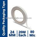 Fuerte cinta de doble cara( portador del tejido recubierto con adhesivo acrílico)