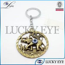2014 fashion evil eye Elephant key chain wholesale