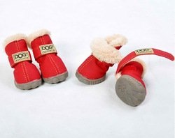 fleece inner dog boots with factory price