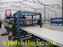 SB-EPS/wool rock composit sandwich wall/roof tile glue coated making machinery,building material for house
