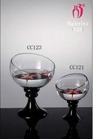 Glass Diagonal Cut Bowl Vase Flower Candle Wedding Party Decoration