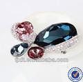 Caliente venta del estilo encantador de plata de ley 925 cristal broche de mariposa