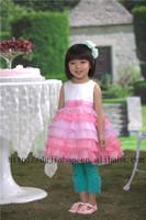 NEW ARRIVAL !2014 new fashion princess kids girl dress wedding gown