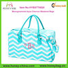 Cheap Monogrammed Weekend Bags Tote Bags Aqua Blue Chevron Beach Bag