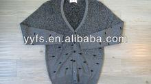 Grey weave 100% cotton cardigan man sweater
