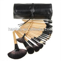 2013 new !! Professional 24 Makeup Brush Set tools Make-up Toiletry Kit Wool Brand Make Up Brush Set Case
