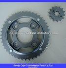 2014 new type Dajin 1045 steel motorcycle chain sprocket pular chain sproket kit