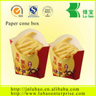 french fries paper bag or cone popular in fries shops