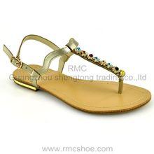 pu fancy style flat beautiful shoes trade