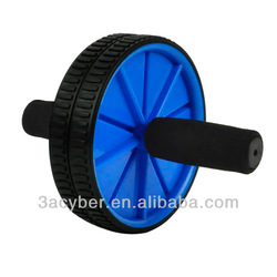 New Dual Abdominal Ab Roller Wheel Exerciser Workout Roller Exercise Blue