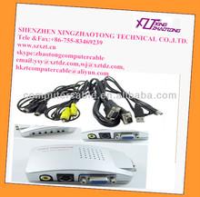 Universal PC VGA to TV AV RCA Signal Adapter Converter Video Switch Box Supports NTSC PAL
