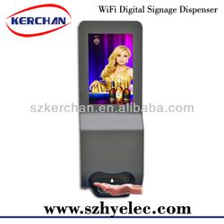 New hand sanitizer dispenser shopping mall ad display