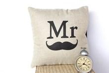 wholesale Linen fashion sofa cushion screen print home decorative cushions