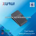 ( tuv ccc ce rohs) de plástico abs fs01 10a/250vac negro spdt interruptor de pie mini presione el botón del interruptor de membrana