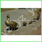 Garden cast brass statue of ducks BASN-D101