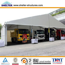 Strong car parking canopy with hard pressed extruded aluminum alloy