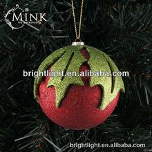 christmas red glitter powder ball Decoration