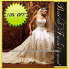 Hot Sale Long Good Quality Organza Sweetheart Embroidered Bridal Dress With Long Tail