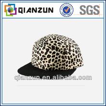 unisex new fashion sport leopard print 5 panel cap hat