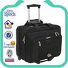 Convenient black nylon travel trolley luggage bag