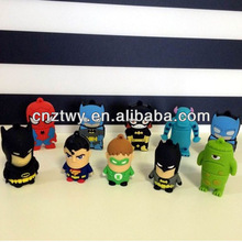 2014 New PVC carton usb flash drive, lovely batman, spiderman flash memory
