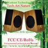 100% hand made original green Hi-fi bamboo computer speaker