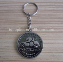 vintage engraved car logo letter souvenir key chain