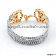 2014 wholesale fashion bracelet for women gray three-layer Indian style bracelet lover token gift