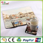 Best Promotional round mdf cork placemats