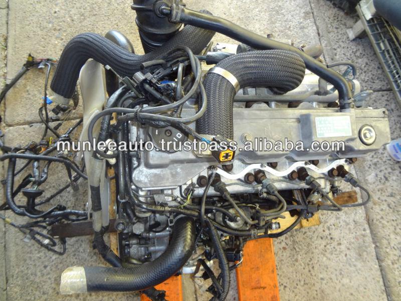 Jdm usados diesel motor mt awd trans traje de ajuste para el vehículo mitsubishi pajero montero ...