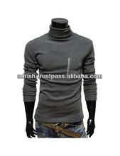 Innovative emboridered turtle neck shirt