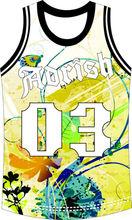 hot sale sublimation digital pringted youth boys' basketball jersey
