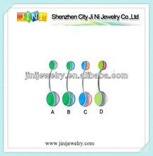 Wholesale belly navel rings barbells ball