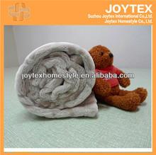 full polyester cut flower back dyed printing mink flannel blanket