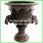 large bronze flower vase BASN-W046