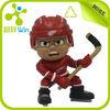 plastic ice hockey player figure/cartoon sport figure/cartoon ice hockey figure