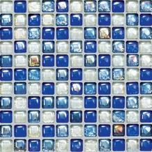 Luster glazed ceramic mosaic tile glazed round glass mosaic crystal mosaic pattern