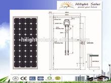 12v 150W Mono solar panel with TUV IEC CE CEC ISO