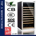 80- refrigerador de la botella de vino barril con pantalla lcd de pantalla para las bebidas con no hay ruido y sin vibraciones