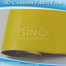 Auto 3d en fibre de carbone film/design autocollant de voiture, ne pas endommager la peinture de voiture