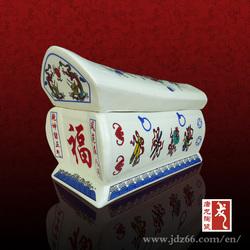 Factory direct Jingdezhen ceramic urn shape casket