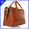 Vintage style spain genuine leather briefcase bags,brown leather briefcase bag,bag briefcase leather,man business bag