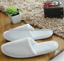 high quality coral fleece non-skid hotel indoor slippers