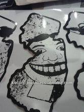 2014 Screen printing Half tone stickers custom waterproof