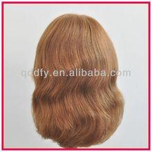 2014 Fashion Blonde Body Wavy Virgin Human Full Lace Wigs
