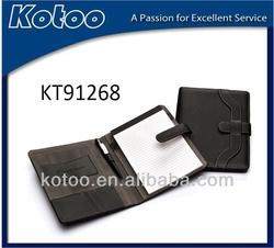 2014 nice leather compendium folder/A5 organizer/A5 portfolio noteboook