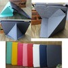 matte pc+ folding smart leather case cover for ipad air 5